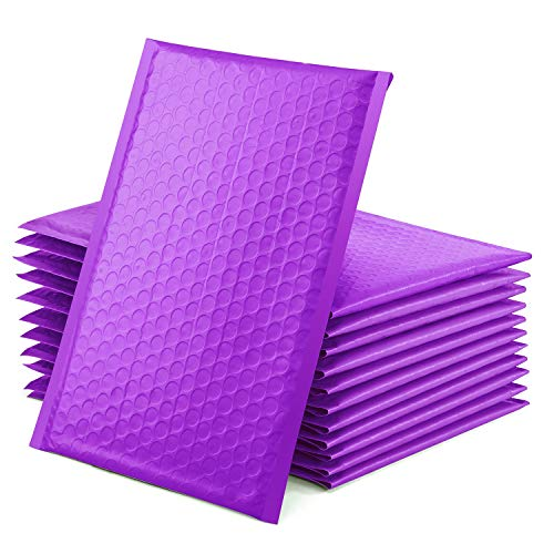 GSSUSA Purple Poly Bubble Mailers 6x10 Padded Envelopes #0 Shipping Envelopes Bubble Mailers Self Sealing Padded Envelope 50Pack