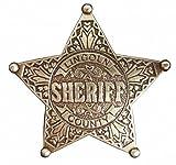 Photo de Denix - Étoile de sheriff américain en laiton - Cowboy Weston - Lincoln County -