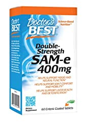 Doctor's Best SAMe Double Strength is proven to enhance mood and promote cognitive health SAMe is essential for the healthy metabolism of the major brain transmitters dopamine, serotonin and norepinephrine SAMe has been proven to promote joint comfor...
