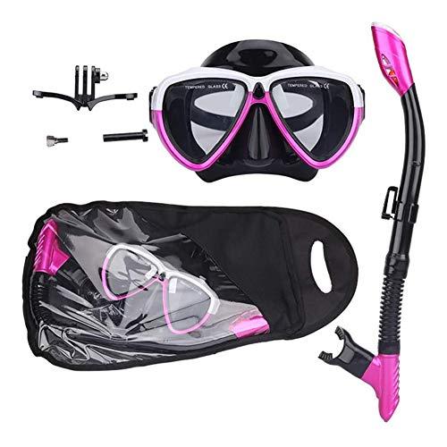 Seguro Easybreath Adultos Gafas de Bucear Completamente Seco Máscara de Buceo Máscara Snorkel Hombres Mujer Tubo Respirador Set de Buceo Gafas de Natación Anti-Niebla Antideslizante ( Color : Purple )
