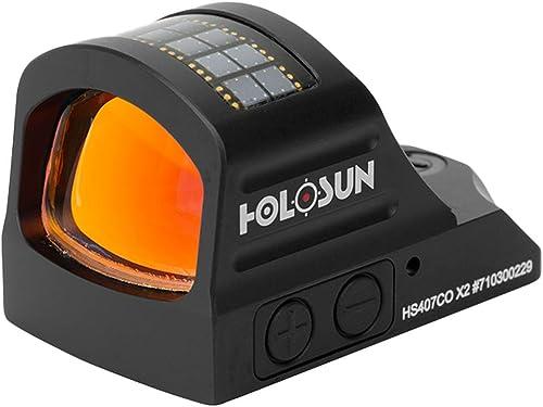 HOLOSUN HS407CO X2 Green 8MOA Dot, Solar Failsafe, Shake Awake