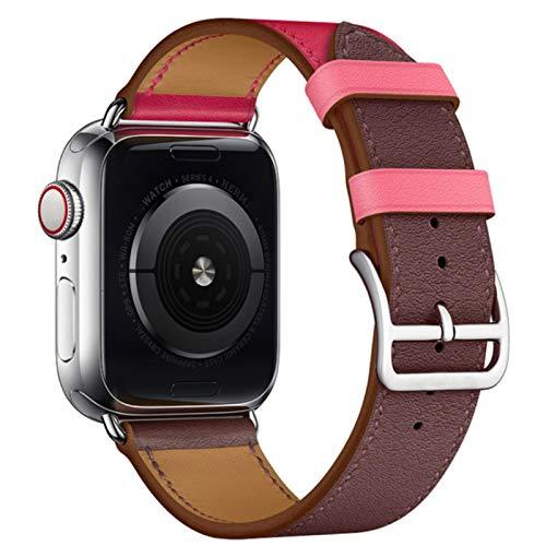 Correa de cuero de vaca para correas de Apple Watch 42 mm 44 mm Serie Iwatch 6 5 4 3 2 1 SE Accesorios Bucle 38 mm Reemplazo de pulsera 40 mm