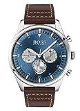 Hugo Boss Herren Chronograph Quartz Uhr mit Leder Armband 1513709