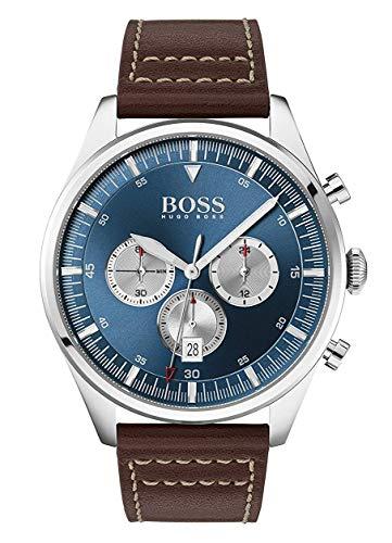 Hugo Boss Analoog Quartz Horloge voor heren met lederen band 1513709
