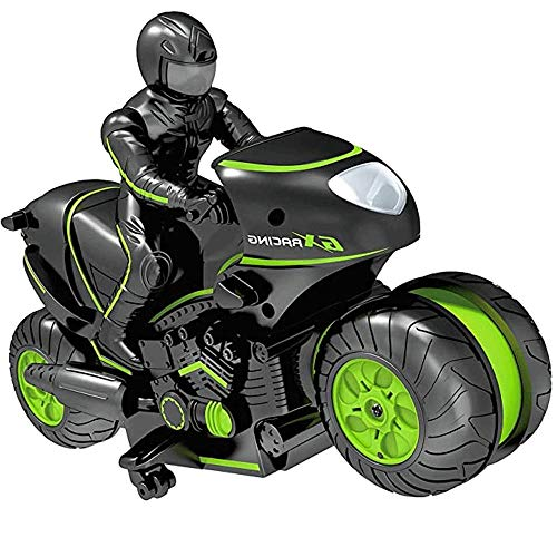 ZHANGL RC Drift Stunt Moto Mini Kids Motocicleta eléctrica de Alta Velocidad...