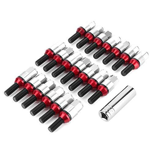 Tomanbery Pernos de Rueda de Cubierta de Aluminio para reemplazo de Piezas de automóvil(Titanium)
