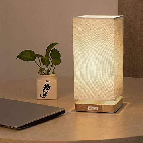 Nachttischlampe - Tischlampe mit quadratischem Stoff für Schlafzimmer, Kommode, Wohnzimmer, Kinderzimmer, Studentenwohnheim, Couchtisch, Bücherregal