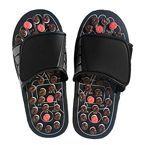 Jiadi Reflexzonen Sandalen - Accupressure Magnetic Massage Hausschuhe Fußtherapie Massage Schuhe für Plantarfasziitis