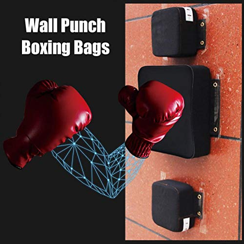 Alomejor Punch Wall Pad Foam and PU Focus Target Strike Fighting Pad Boxing Punching Pad for Training Pouch Bag