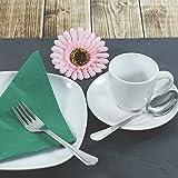 com-four® 6x Teelöffel aus Edelstahl - stilvolles Tafelbesteck im schlichten Design - Kaffeelöffel - Dessertlöffel - Teeservice - 13,7 cm - 2