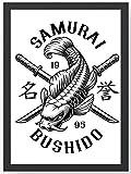 Samurai Bushido Karpfen Kunstdruck Poster -ungerahmt- Bild