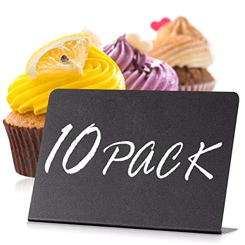 10 Piezas Mini Pizarras 10x7 Cm - para Buffet - Decoración De Bodas - Cumpleaños - Bares Y Fiestas - Letreros De Pizarra para Buffet - Números de Mesa