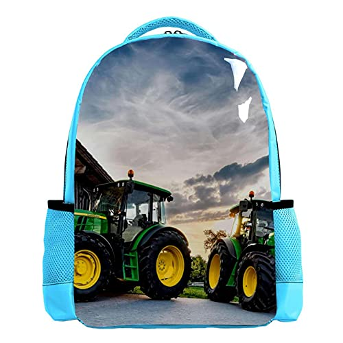 YATELI Mochila ligera para la escuela,El mejor tractor del mundo. , Mochila informal clásica básica resistente al agua para viajes con bolsillos laterales para botellas