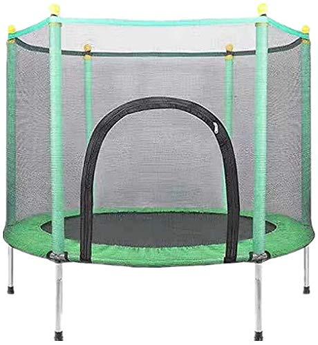XIAN-S Tappeto Elastico per Bambini, Trampolino Elastico per Bambini di 3-12 Anni con Trampolino Elastico E Rete per Recinzione,Verde