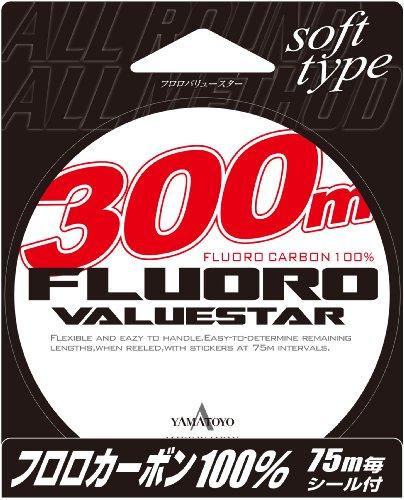 ヤマトヨテグス(YAMATOYO) フロロカーボンライン フロロバリュースター 300m 3.5号 14lb クリア