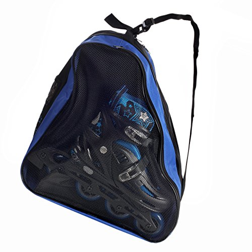 High Bounce Inline Skates Bag - for Boys and Girls Carrying Inline Skates, Ice Skates, Roller Skates (Blue)