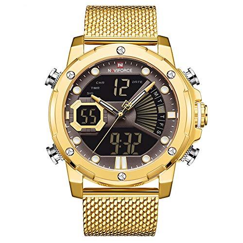 High-End Herrenuhr Mesh Herrenuhr Waterproof Quartz Sports Dual Movement Elektronische Uhr Herrenuhr Masculino Reloj Hombre