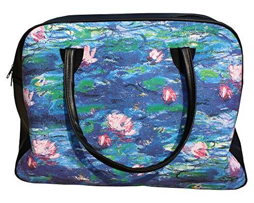 RaanPahMuang Work of Art Travel Bag - Claude Monet - Nympheas Water Lillies