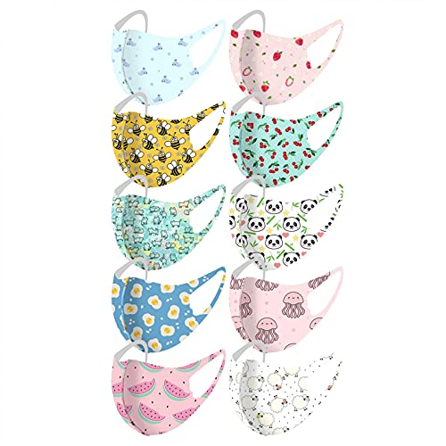 Face_mask reusable,Kids Reusable Washable Face_Masks for Thanksgiving Mouth Scarf 10 pcs Maple Leaf Printed Breathable Mouth and Nose Protection Face Bandana