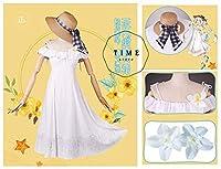 [萌地带コスプレ]Fate/Grand Order FGO マリー・アントワネット CASTER 水着 コスプレ衣装 花飾り、 帽子付き (女性XL)