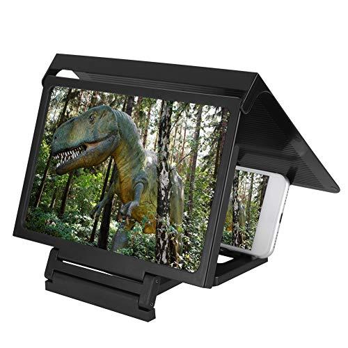 Vergrootglas voor smartphones, premium 3D video, HD-beeldvergrootglas, vergrootglas voor smartphones, draagbaar, mobiele telefoonscherm projectie, magnetifier met houder voor kinderen, cadeau