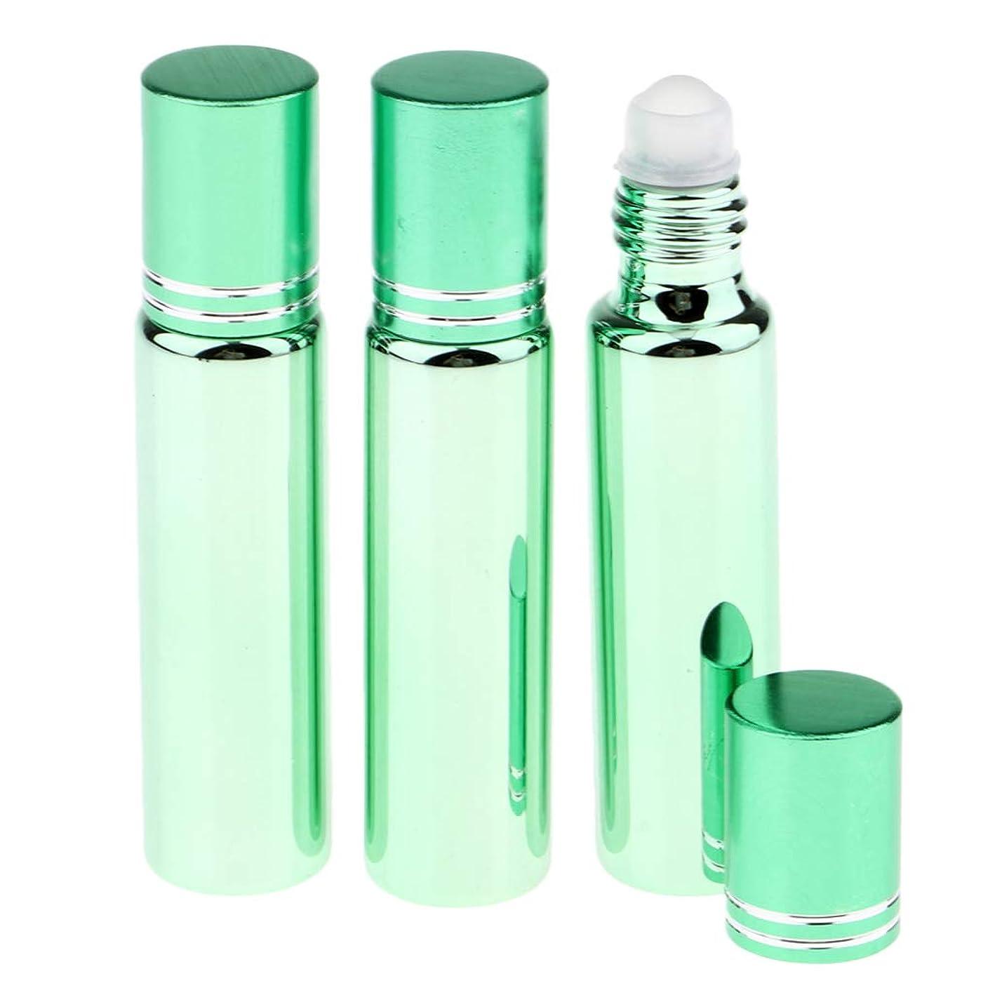 プログラムベルト土器SM SunniMix 空 ローラーボトル リップグロスボトル 香水容器 エッセンシャルオイル 香水瓶 ロールオン 化粧道具 全5色 - 緑