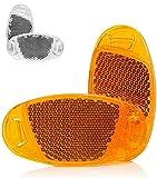 Kellago Starkreflektierende Speichen-Reflektor in Katzenaugen-Reflektoren/Fahrrad-Speichen-Reflektoren [ mit starker Reflektionsfunktion für hohe Sicherheit! ] (Orange, 4er Pack)