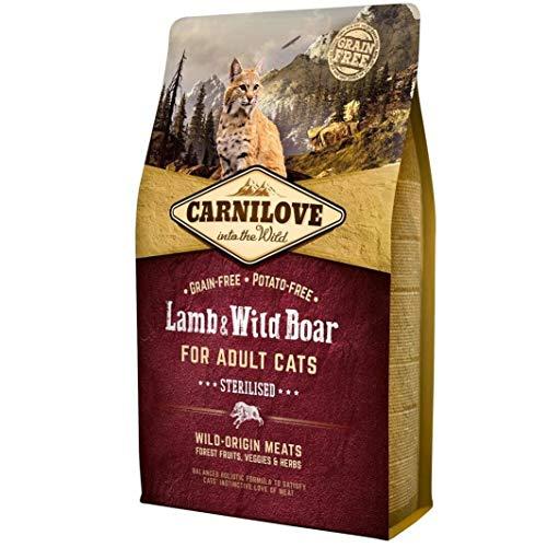 Carnilove Carnilove Lamb & Jabali Adult Sterilizado Comida Deshidratada Para Gato 400 Gr - Paquete de 13 x 30.77 gr - Total: 400 gr 🔥