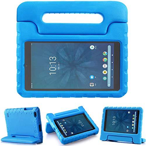 TIRIN Walmart Onn 8 Inch Tablet Case, Light Weight Shockproof Handle Friendly Convertible Stand Kids Case for Walmart Onn 8 inch Android Tablet 2019 Release Model ONA19TB002 - Blue