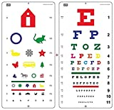 Top Quality Snellen Color Eye Chart, Pediatric Color Vision Eye Chart, Size 22 x 11 Inch E...
