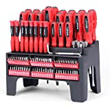 german made tools - HORUSDY 100-Piece Magnetic Screwdriver Set with Plastic Racking, Best Tools for Men Tools Gift