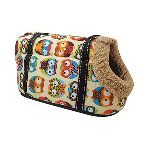 B Blesiya Mochila para Perros Tote Carrier a Prueba de Viento Gatos Ajustables Transportines para Perros para Exteriores Perros pequeños Gatos Peluche - Terciopelo 4