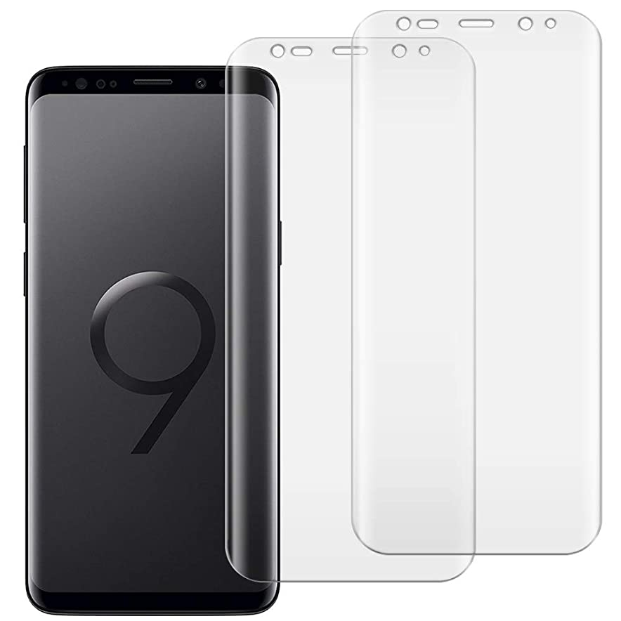 Galaxy S9 フィルム 全面吸着 2枚 セット ギャラクシーs9 全面 保護 フィルム TPU + PET 素材 厚さ0.18mm