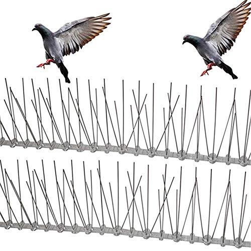 2 stuks, Outdoor vogel afstotend roestvrij Spikes Eco-vriendelijke Anti Nail Voor Duiven Owl kleine hek dak beschermer teken afschrikmiddel,Natural