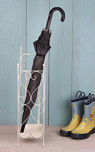 Store Indya Handmade Metal Umbrella Stand Walking Stick Holder Antique Square Freestanding Canes Sport Bats Holder Multipurpose Storage Organizer Entryway Home Decorative (White Enigma Collection)