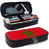 Marruecos Estuche de lápices Gran capacidad de almacenamiento Bolsa de cuero Titular Lápiz Papelería Organizador Lápiz Bolsa con cremallera