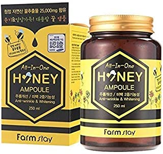 Farm stay All In One Honey Ampoule 250ml,Propolis,Royal jelly,Anti-Wrinkle,Whitening,All Skin type
