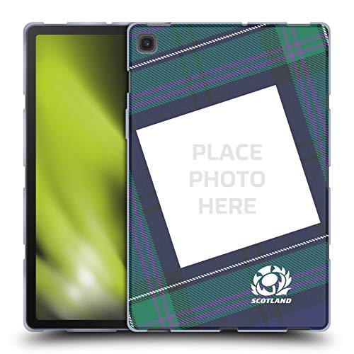 Custom Customised Personalised Scotland Rugby Tartan Custom Graphics Soft Gel Case Compatible for Samsung Galaxy Tab S5e