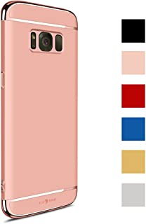 Galaxy S8 Case, 3 in 1 Hybrid Hard Plastic Case Ultra Thin and Slim Anti-Scratch Matte Finish Back Cover for Samsung Galaxy S8 (5.8'')(2017) - Rose Gold