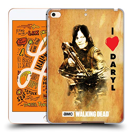 Officiële AMC The Walking Dead Liefde Daryl kruisboog Typografie Hard Back Case Compatibel voor Apple iPad mini (2019)