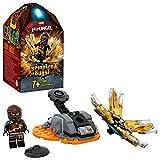 Ninjago Action Toy Spinjitzu Explosivo: ColeSet Spinner Ninja, color negro (Lego ES 70685)
