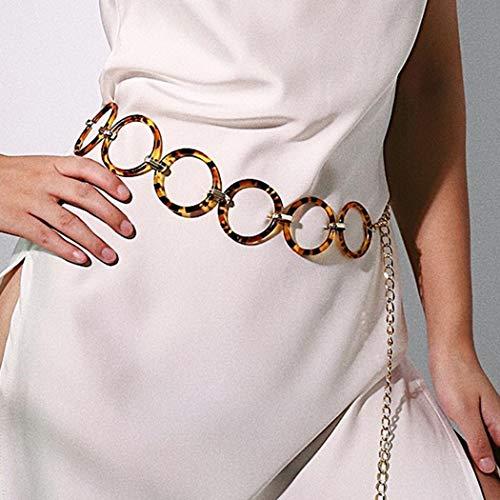 Sethain Jahrgang Taillenkette Gold Leopard Drucken Bauchketten Zyklus Körperkette Schmuck für Frauen und Mädchen