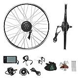 YOSE POWER E-Bike Conversion Kit Frontwheel 36V250W 26' Zoll Elektrofahrräder Vorderrad Umbausatz mit Frontmotor Schwarz für Pedelec