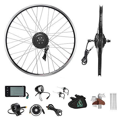 """YOSE POWER E-Bike Conversion Kit Frontwheel 36V250W 26"""" Zoll Elektrofahrräder Vorderrad Umbausatz mit Frontmotor Schwarz für Pedelec"""