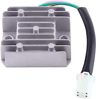 PRINDIY R/égulateur Rectifieur 4 Fils Universel pour r/égulateur de Tension 12V AC pour Scooter Moto Quad v/élo