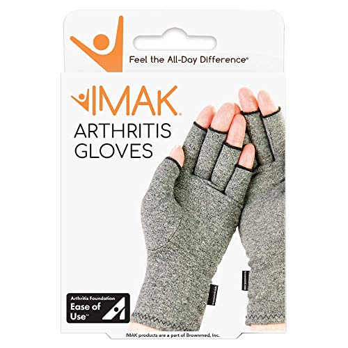 IMAK Compression Arthritis Gloves- Premium Arthritic Joint Pain Relief Hand Gloves for Rheumatoid &...