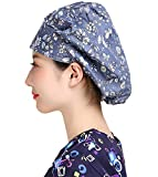 H-Shero Women's Adjustable Cap Hair Covers Cotton Hats with Sweatband… (HS002)