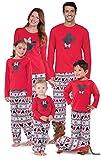PajamaGram Matching Pajamas for Family - Mickey Mouse Pajamas, Red, Men's, XL