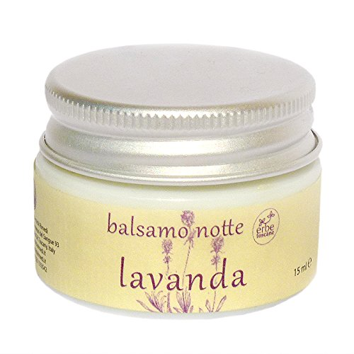 Balsamo Notte Bio LAVANDA - Ottimo per la Pelle Delicata e Sensibile - Puro Concentrato di Natura – Prodotto a mano in Toscana (15 ML)