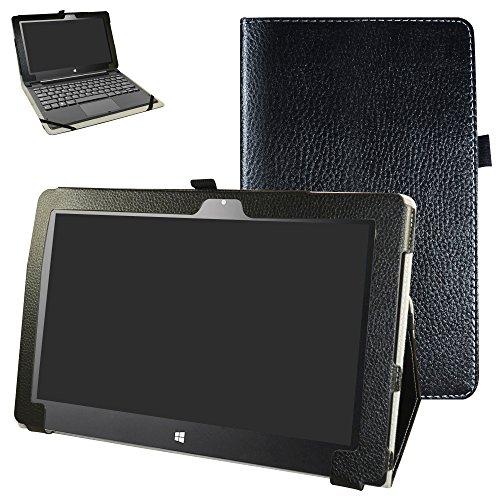 "Insignia Flex 11.6 NS-P11W6100 Case,Mama Mouth PU Leather Folio 2-Folding Stand Cover for 11.6"" Insignia Flex 11.6 NS-P11W6100 Windows 10 Tablet,Black"